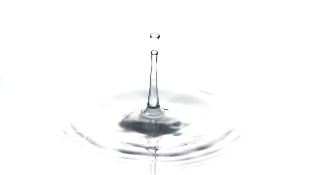 SLOW MOTION: Water Drop Super slow motion of a water drop falling into water drop stock videos & royalty-free footage