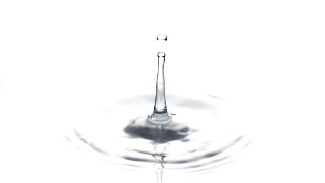 slow motion: water drop - dalga dalga yayılma stok videoları ve detay görüntü çekimi