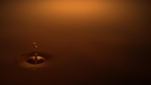 が渦巻く水滴 - 波紋点の映像素材/bロール