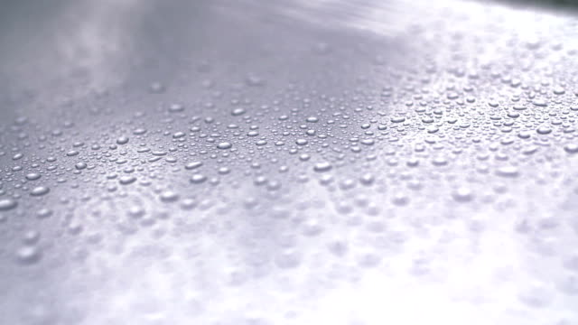 water drops on car surfac. video