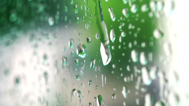 Water drops on glass. video
