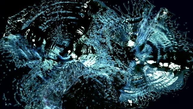 water drops. slow motion. - гладкая поверхность стоковые видео и кадры b-roll