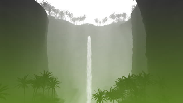 Water Fall Green Design Element video