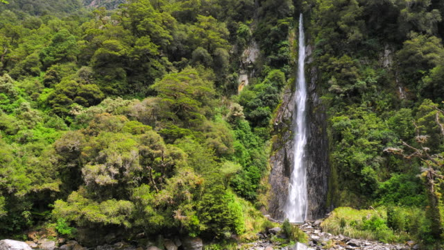 water fall in New Zealand, Slow Motion video
