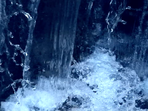 water fall water fall on the dam double refraction stock videos & royalty-free footage