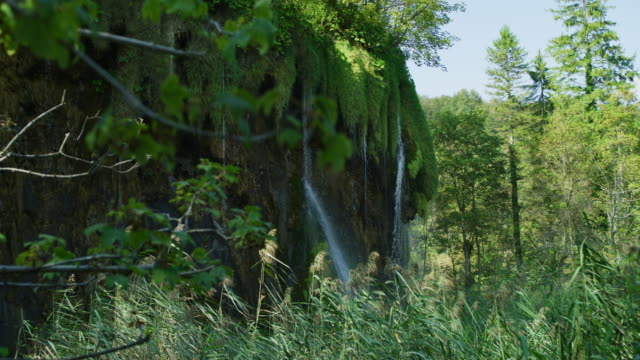 Water falling over a cliff