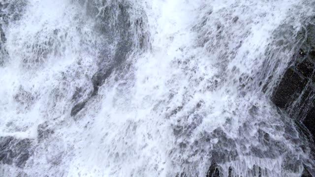 Water Falling Over Rocks video