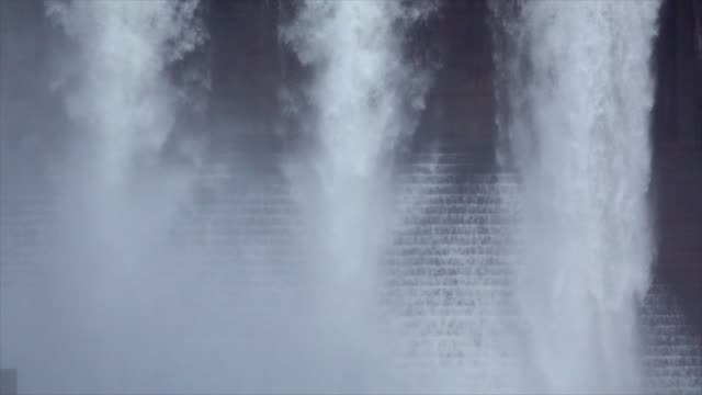 Water Flow Out From Dam Slow Motion