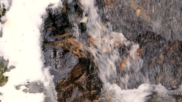 Water Flowing Ice and Snow in Winter video