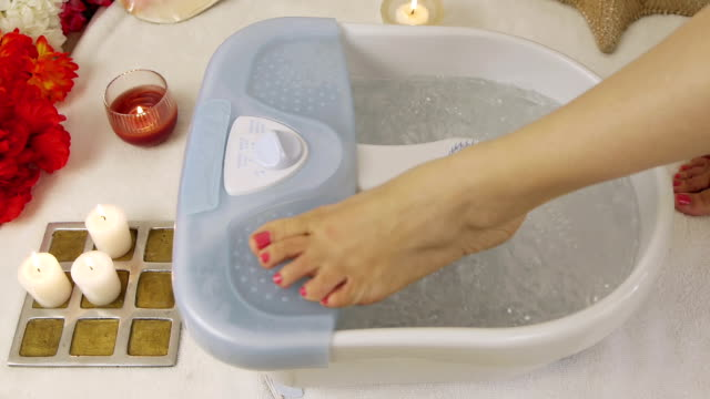 Water Foot Massage Spa Lady Feet (HD) video