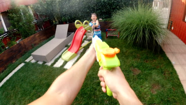Water gun battle