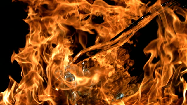 water in flames - ice on fire video stock e b–roll