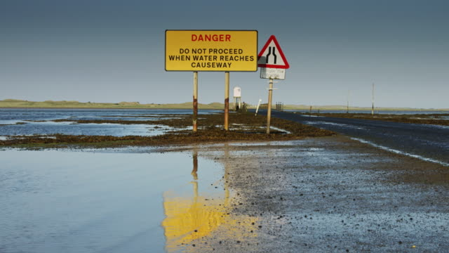 Water Lapping at Lindisfarne Causeway video