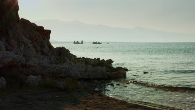Water Lapping on the Beach at Mono Lake video