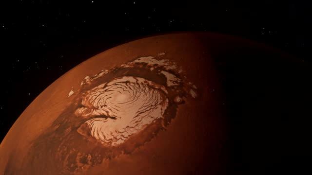 Water on Mars From Space Water on Mars From Space polar climate stock videos & royalty-free footage