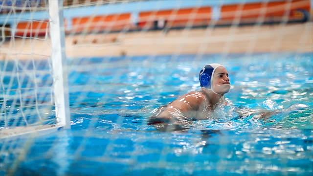 water polo action - campionato video stock e b–roll