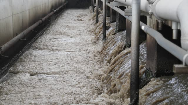 water reclamation plant - acquedotto video stock e b–roll