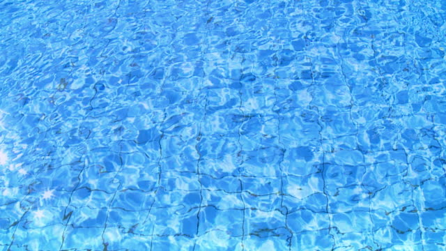 HD SLOW MOTION: Water Reflections In A Pool video