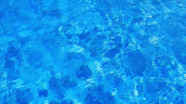 water ripples in swimming pool background - piastrella video stock e b–roll