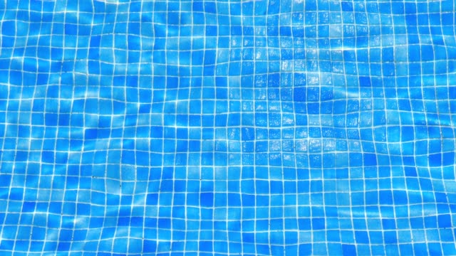 water ripples in swimming pool tile background - piastrella video stock e b–roll