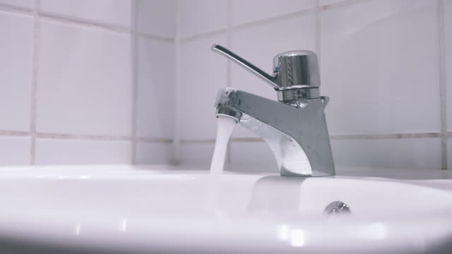 Water Running from Bathroom Sink Faucet video
