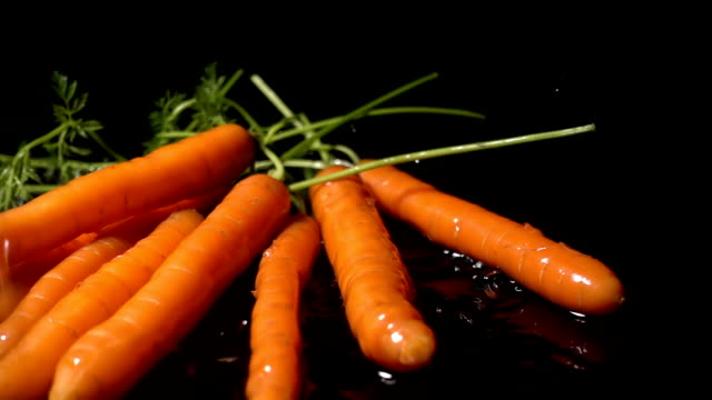 Water Splash On Carrots video