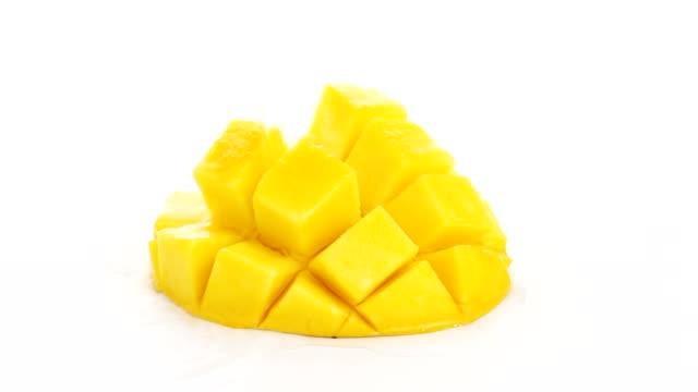 water splash on mango