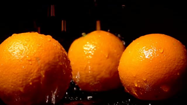 Water Splash On Orange video