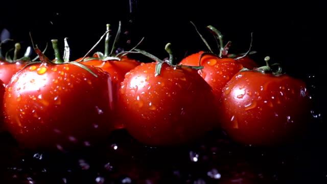 Water Splash On Tomato video