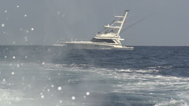 Water Spraying in Front of Fishing Vessel video