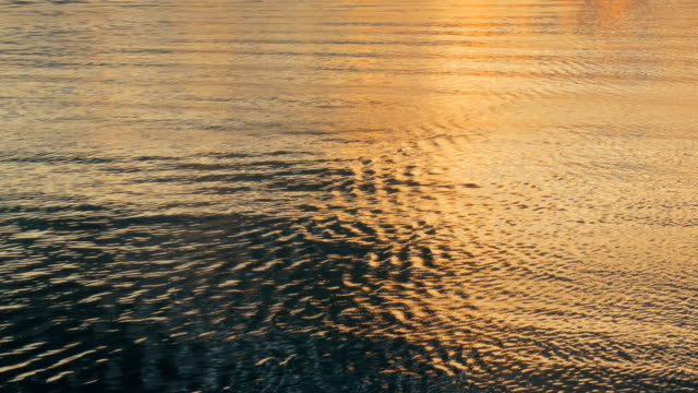 Water surface at sunset video
