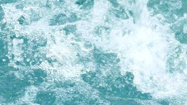 Water surface splash, slow motion video