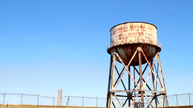 Water tower on Alcatraz Island video