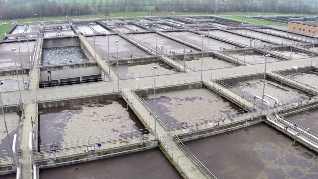 Water treatment plant (drone video) video