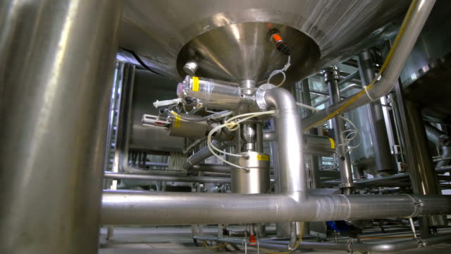 Water Treatment Plant. Water purification system equipment video