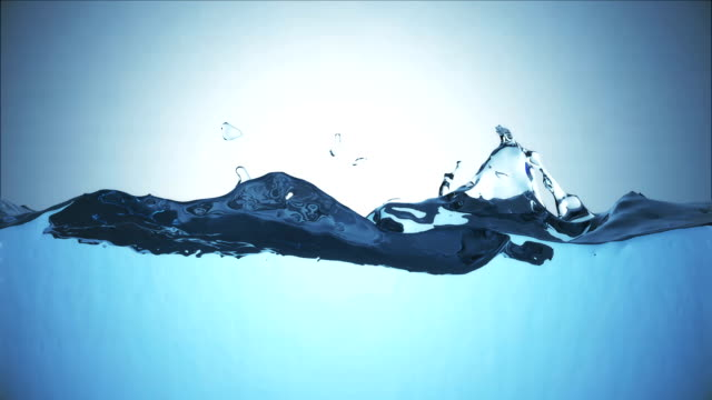 Water wave surface on bluish background video