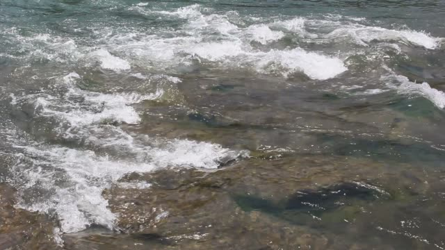 Water waves in the river