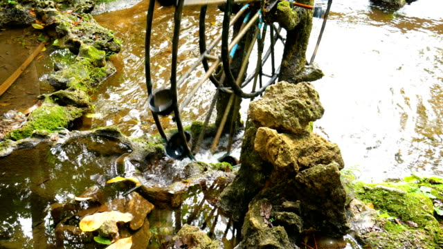Water Wheel in Tropical Forest video