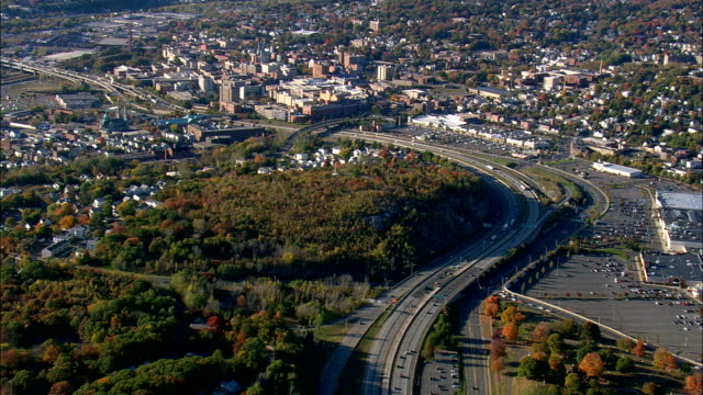 Waterbury  - Aerial View - Connecticut,  New Haven County,  United States This clip was filmed by Skyworks on HDCAM SR 4:4:4 using the Cineflex gimbal. Connecticut,  New Haven County,   United States connecticut stock videos & royalty-free footage
