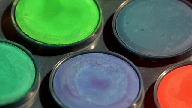 Watercolor blue tones paints video