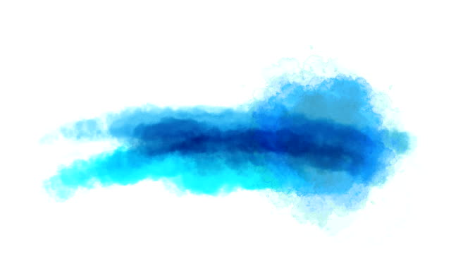 Watercolor dip On a white background. video