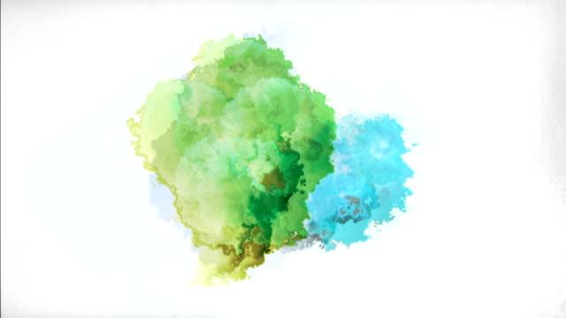 watercolor paint drops