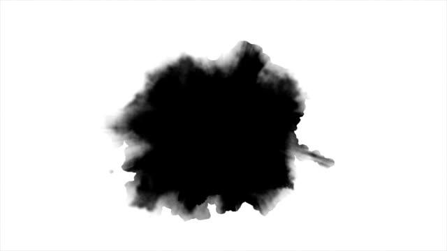 水彩絵の具の効果 - インク点の映像素材/bロール