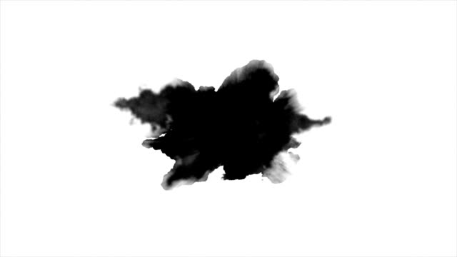 Watercolor paint effect Dripping Ink on white background blob stock videos & royalty-free footage