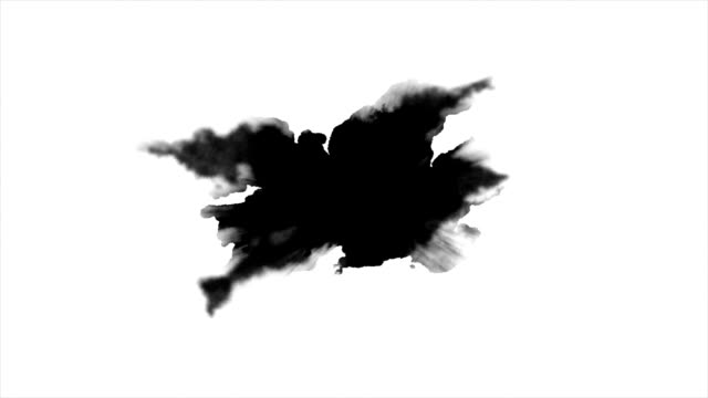 Watercolor paint effect Dripping Ink on white background ink stock videos & royalty-free footage