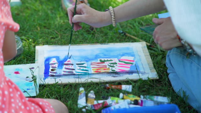 Watercolor Painting in Nature