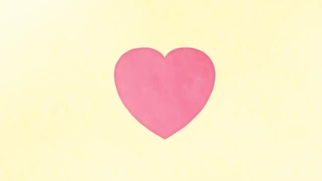 ドキドキする心臓の水彩画味 - 心臓点の映像素材/bロール