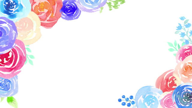 7 990 Floral Borders Stock Videos And Royalty Free Footage Istock