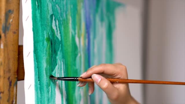 aquarelle - kanvas bildbanksvideor och videomaterial från bakom kulisserna