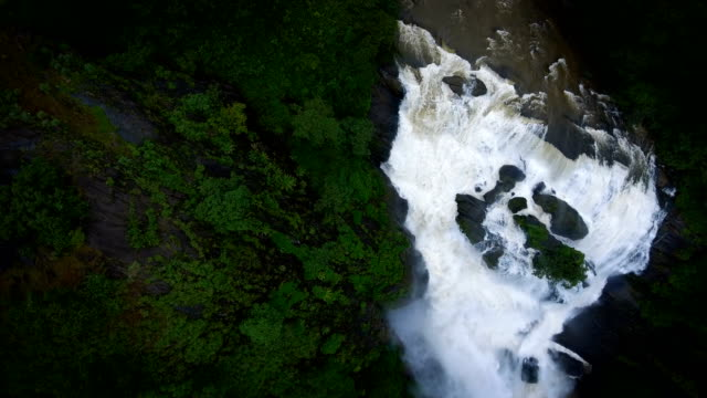 Waterfall Aerial Fly-Through video